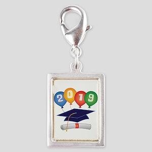 2019 Grad Silver Portrait Charm