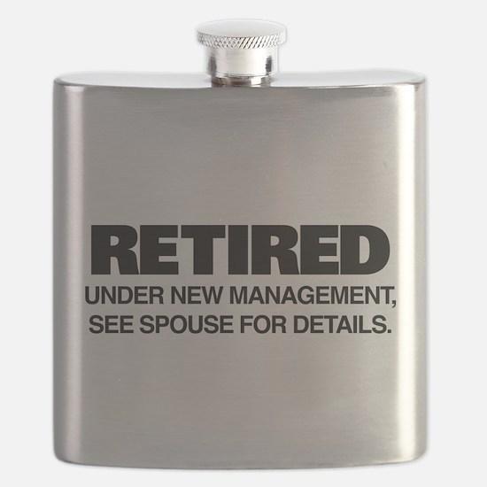 Retired Under New Management Flask