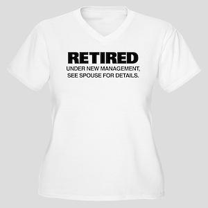 Retired Under New Women's Plus Size V-Neck T-Shirt