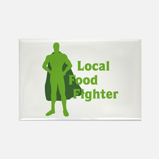 Local Food Fighter Rectangle Magnet