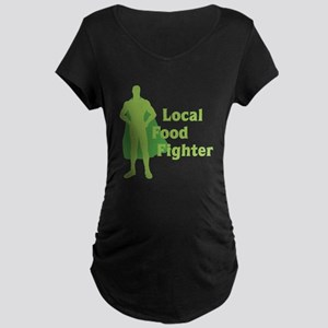 Local Food Fighter Maternity Dark T-Shirt