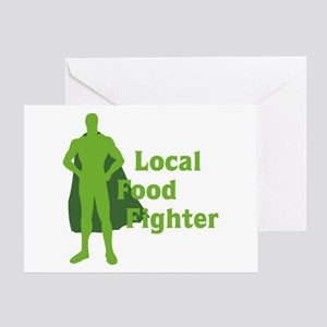 Local Food Fighter Greeting Card