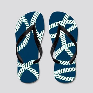 2263428b0 Nautical Rope Flip Flops - CafePress
