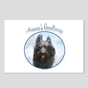 Briard Season's Postcards (Package of 8)