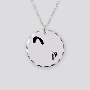 Kite Surfing Necklace Circle Charm