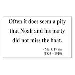 Mark Twain 23 Rectangle Sticker