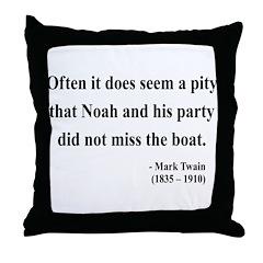 Mark Twain 23 Throw Pillow