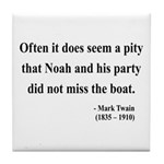 Mark Twain 23 Tile Coaster