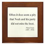 Mark Twain 23 Framed Tile