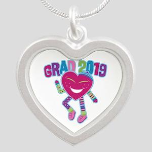 Funky Grad 2019 Silver Heart Necklace