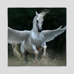 White Pegasus Queen Duvet