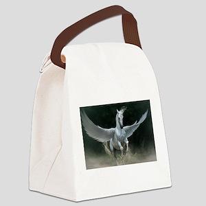 White Pegasus Canvas Lunch Bag