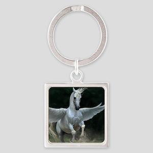 White Pegasus Keychains