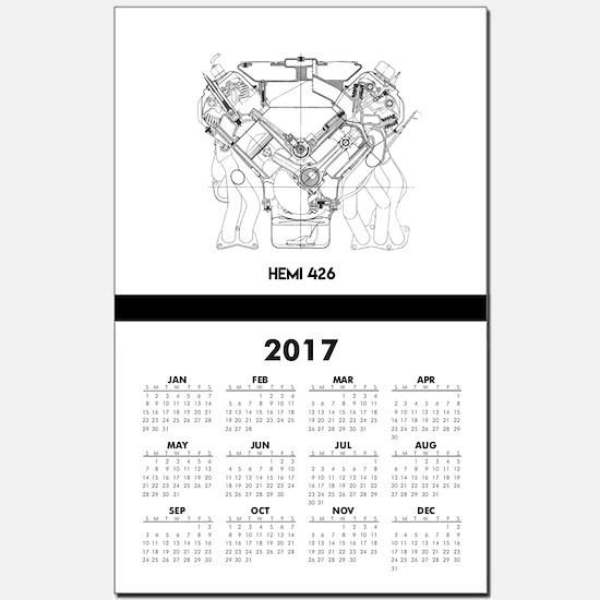 V8 Engine Calendar Print