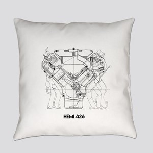 V8 Engine Everyday Pillow