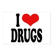 I Love Drugs Postcards (Package of 8)