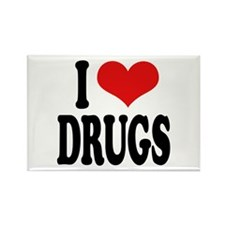 I Love Drugs Rectangle Magnet