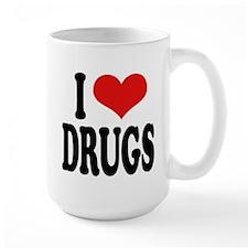 I Love Drugs Large Mug