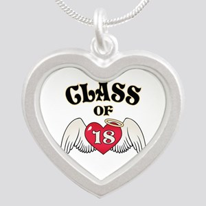 Class of '18 Silver Heart Necklace