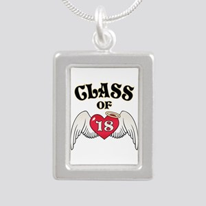 Class of '18 Silver Portrait Necklace