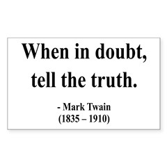 Mark Twain 24 Rectangle Decal