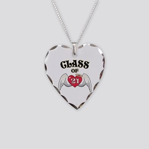 Class of '21 Necklace Heart Charm