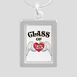 Class of '23 Silver Portrait Necklace