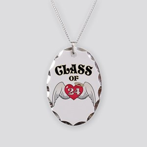 Class of '24 Necklace Oval Charm