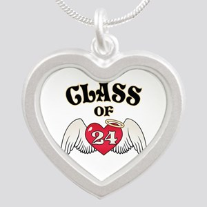 Class of '24 Silver Heart Necklace