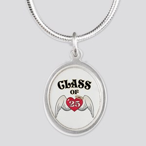 Class of '25 Silver Oval Necklace
