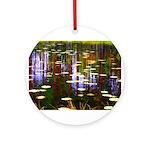 Fall Pond Ornament (Round)