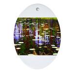 Fall Pond Ornament (Oval)