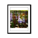 Fall Pond Framed Panel Print