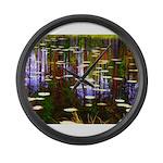 Fall Pond Large Wall Clock
