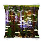 Fall Pond Woven Throw Pillow