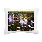 Fall Pond Rectangular Canvas Pillow