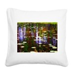 Fall Pond Square Canvas Pillow