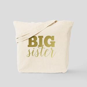 Gold Foil Big Sister Tote Bag