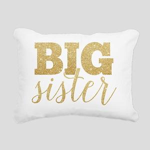 Glitter Big Sister Rectangular Canvas Pillow