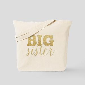 Glitter Big Sister Tote Bag