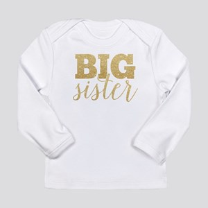Glitter Big Sister Long Sleeve T-Shirt