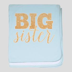 Glitter Big Sister baby blanket