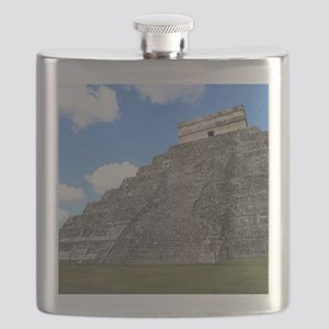 Chichen Itza Temple of Kukulcan south-west V Flask