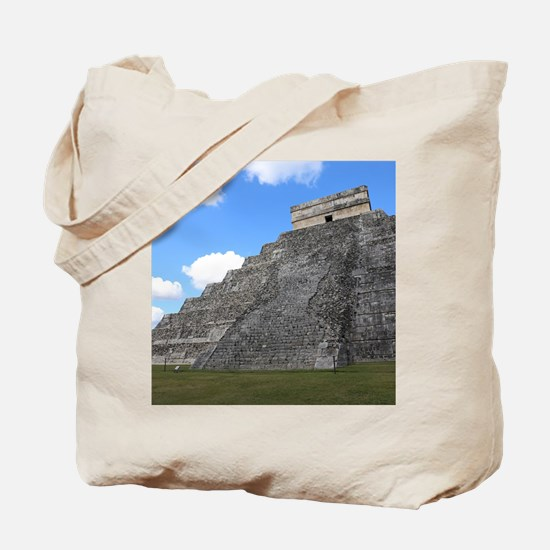 Chichen Itza Temple of Kukulcan south-wes Tote Bag
