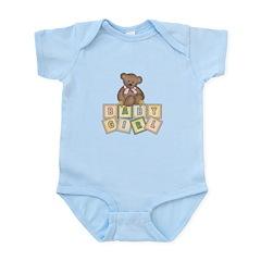 Pink Baby Block Bear Infant Bodysuit