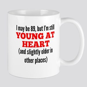 89 Years Old Young At Heart Mugs
