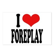 I Love Foreplay Postcards (Package of 8)