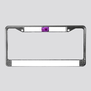 Perfect Purple Flower License Plate Frame