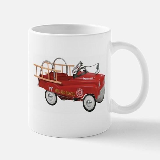 Vintage Fire Truck Pedal Car Mugs