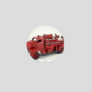 Vintage Metal Fire Truck Mini Button